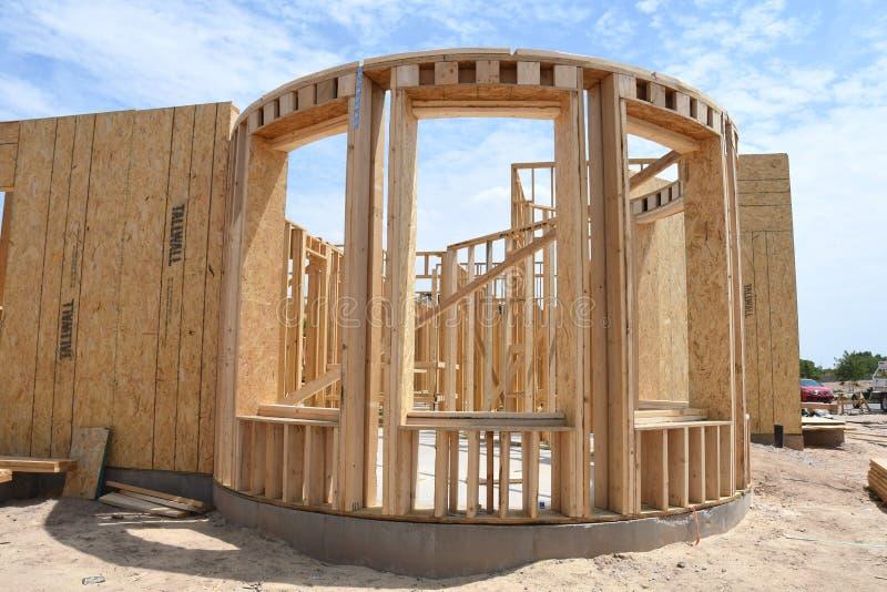 Новая домашняя конструкция обрамляя в юго-западе стоковая фотография