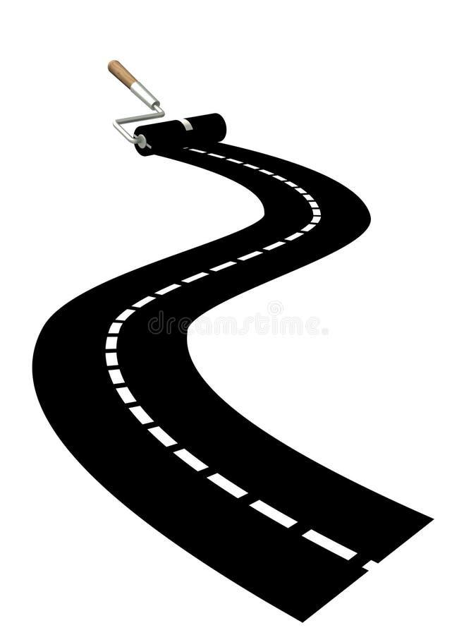 новая дорога иллюстрация вектора