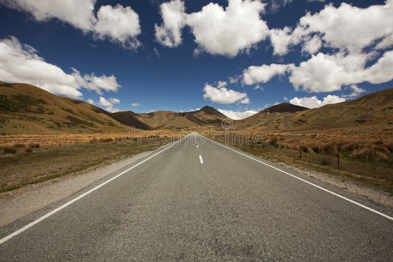 новая дорога zealand стоковые фотографии rf