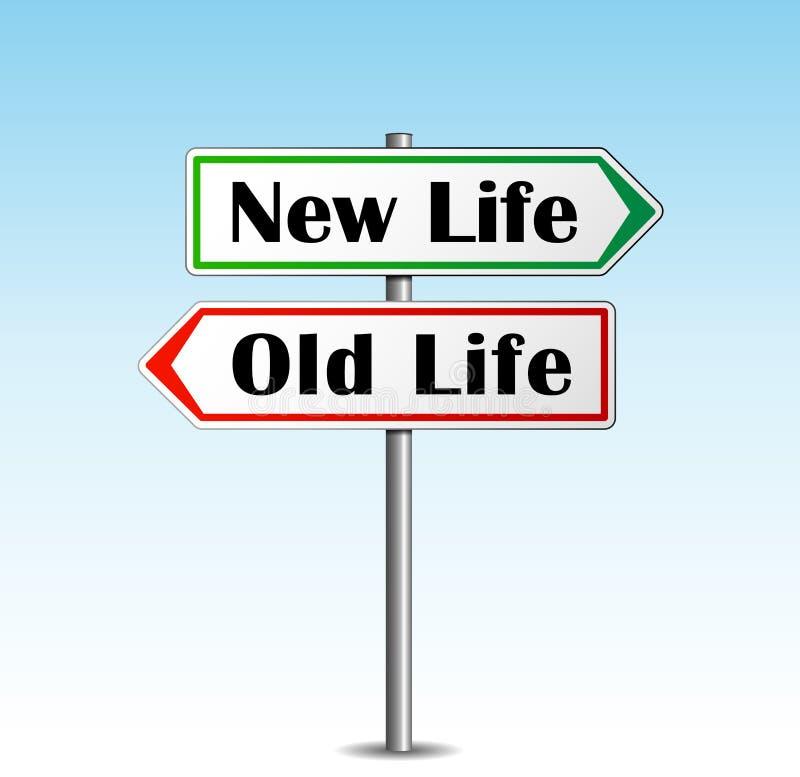 Новая жизнь иллюстрация штока
