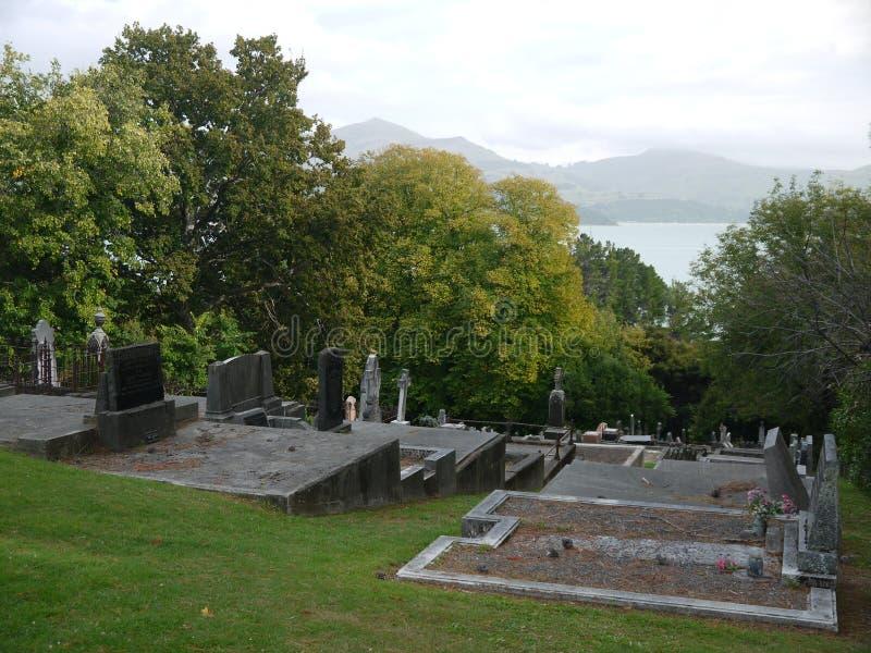 Новая Зеландия: Погост XIX века Akaroa исторический стоковая фотография rf