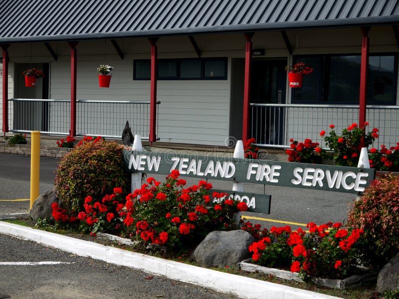 Новая Зеландия: пожарное депо маленького города стоковые фото