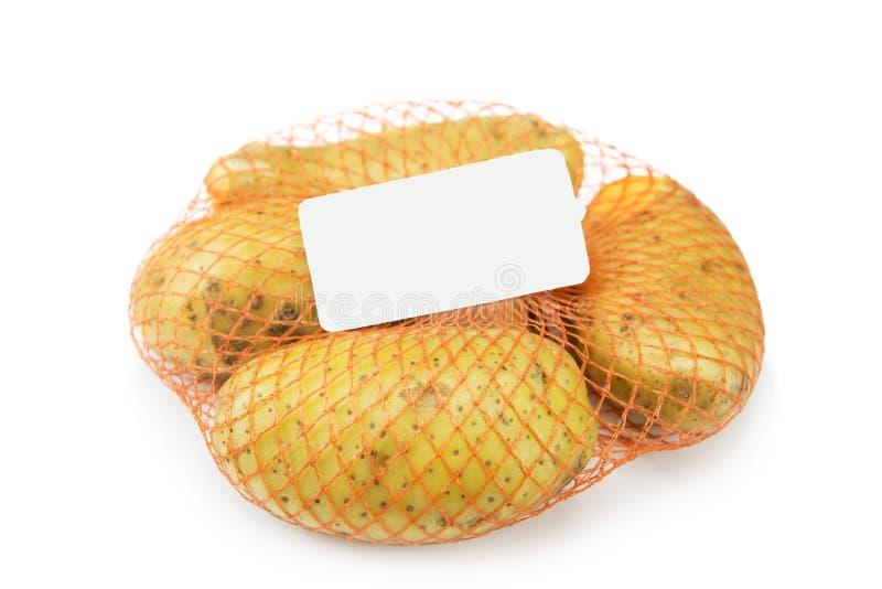 Новая картошка в сети изолированной на белизне стоковая фотография rf