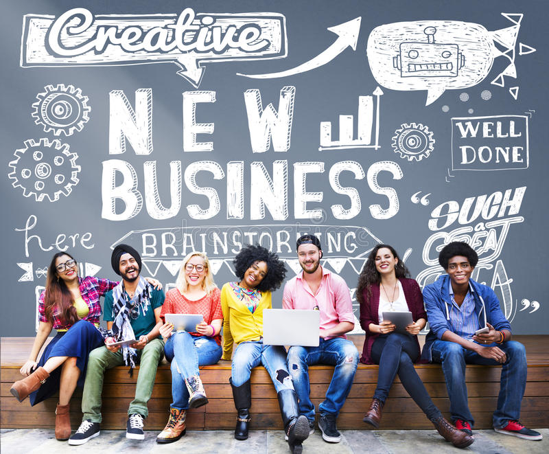 Новая концепция целей зрения стратегии планированиe бизнеса стоковые изображения