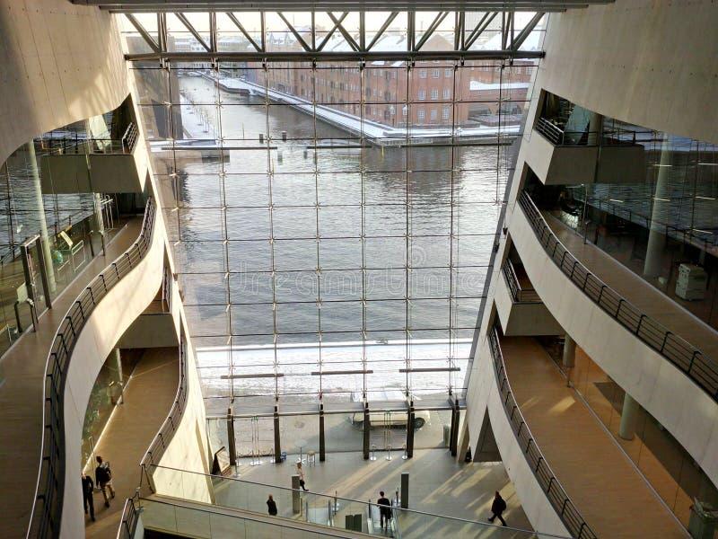 Новая королевская библиотека в интерьере Копенгагена стоковые фотографии rf