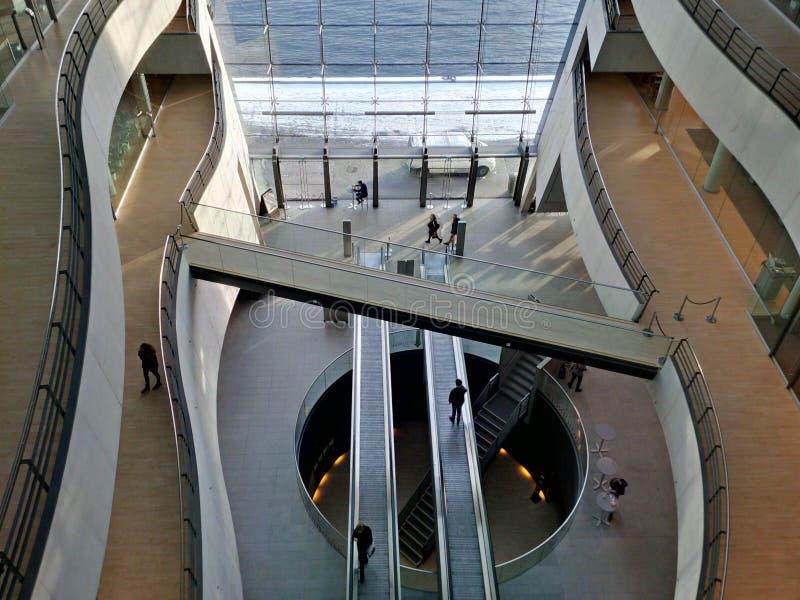 Новая королевская библиотека в интерьере Копенгагена стоковые фото