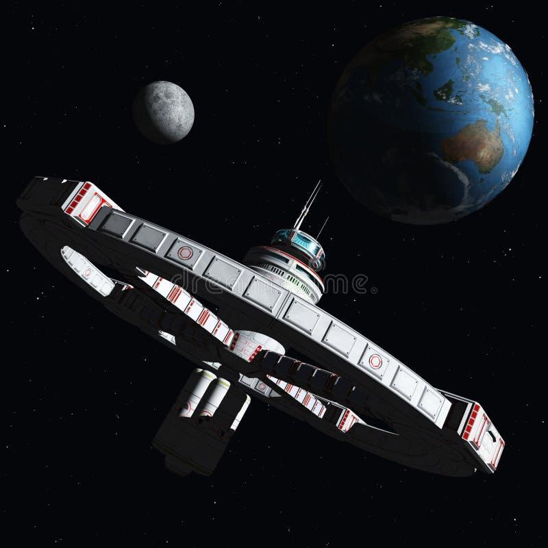 новая космическая станция 2500 иллюстрация вектора