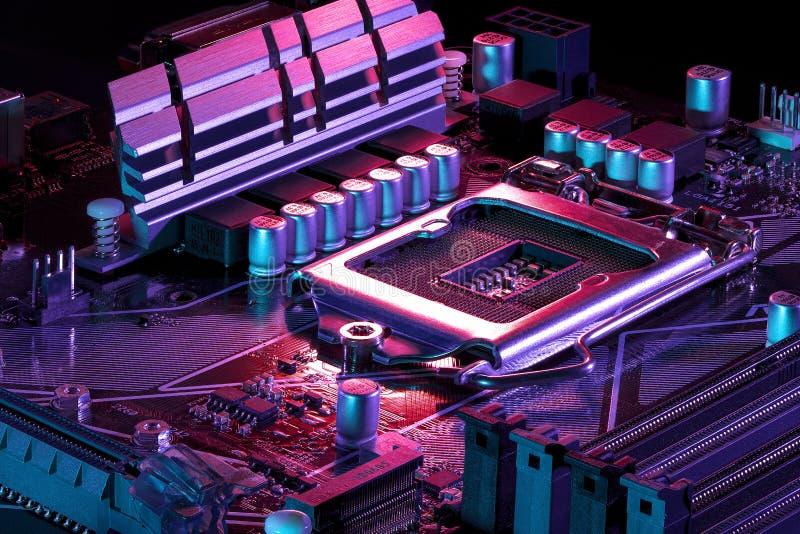 Новая материнская плата компьютера стоковые изображения rf