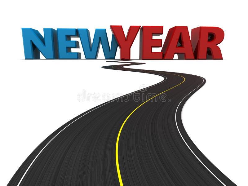 новая дорога к году иллюстрация штока