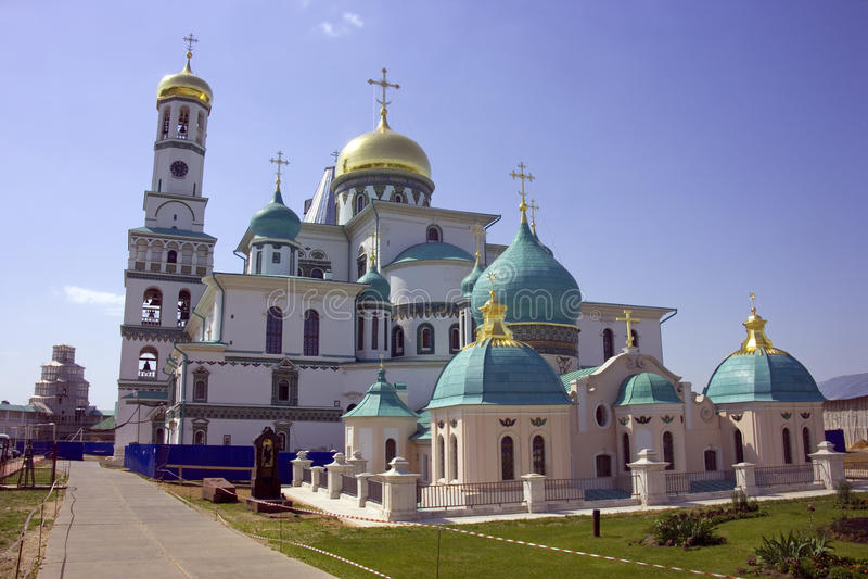 Новая ортодоксальность belltower монастыря gerusalem стоковая фотография rf