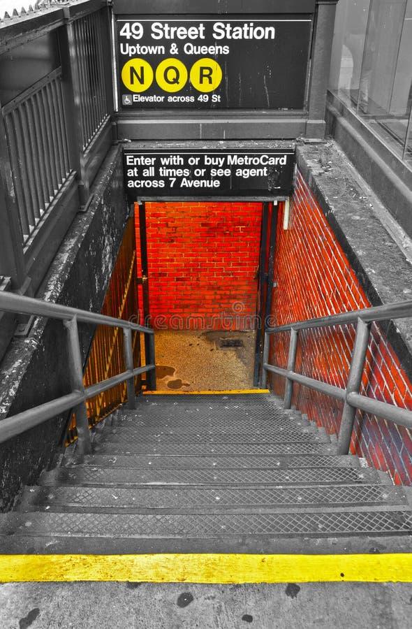 новая подземка york стоковое изображение