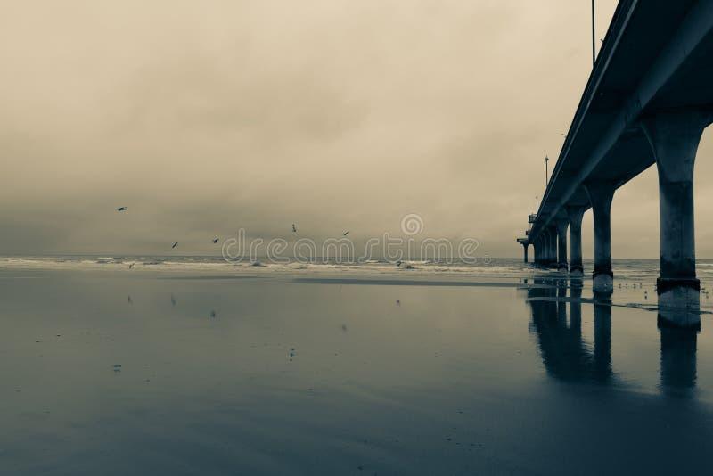 Новая пристань Брайтона, Крайстчёрч стоковое изображение rf