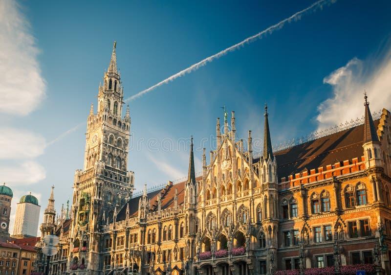 Новая ратуша в Munchen стоковое изображение rf