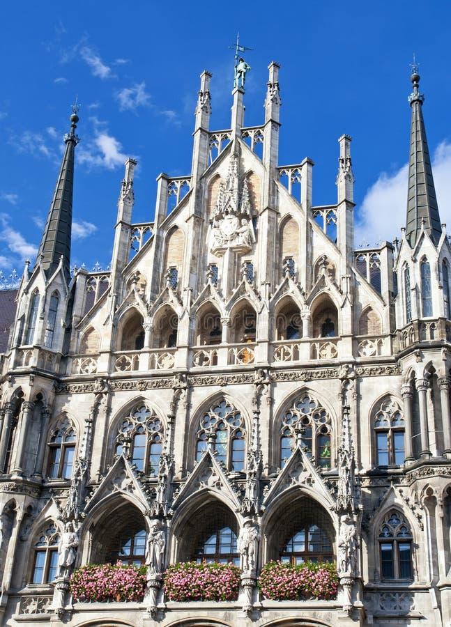 Новая ратуша на Marienplatz в Мюнхене, Германии стоковое фото rf