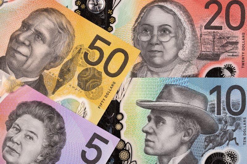 Новая серия австралийских долларов, фон стоковые изображения rf