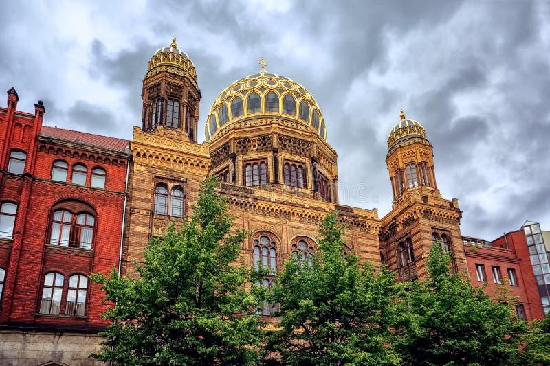 Новая синагога в Берлине, Германии стоковая фотография