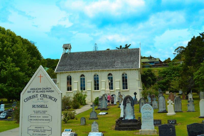 Новая церковь Zealands самая старая стоковое изображение rf