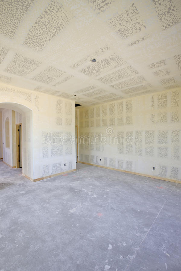 новая drywall конструкции нутряная стоковое изображение