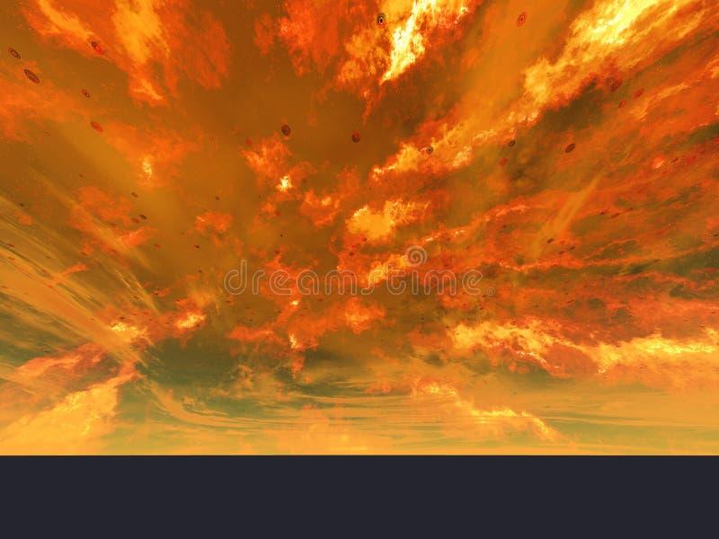Нова извержения огромная иллюстрация штока