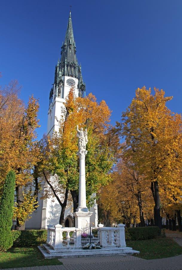 Нова Ves Spisska города, Словакия стоковое изображение