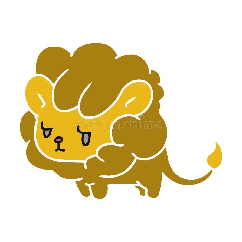 новичок льва kawaii мультфильма милый иллюстрация штока