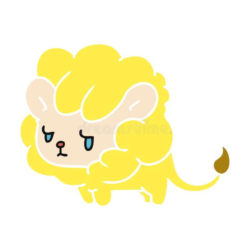 новичок льва kawaii мультфильма милый бесплатная иллюстрация