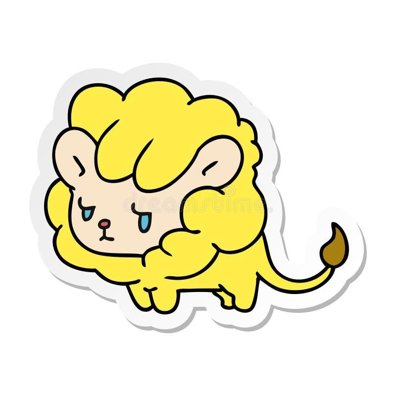 новичок льва kawaii мультфильма стикера милый бесплатная иллюстрация