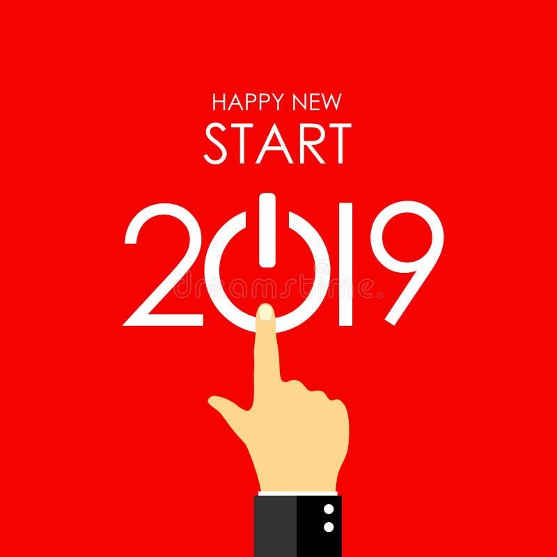 Нового Года поздравительная открытка 2019 бесплатная иллюстрация