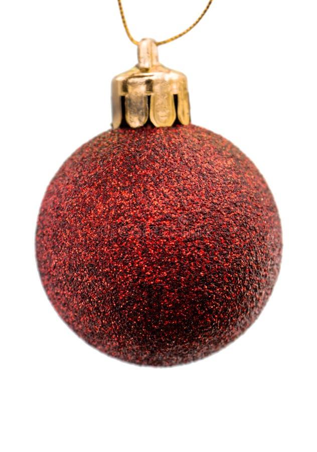 Нового Года сфера темно красная штейновая стоковая фотография rf