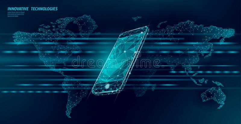 новое беспроводное соединение wifi интернета 4G Мобильное устройство равновеликое голубое 3d ноутбука плоско Быстрый ход глобальн бесплатная иллюстрация