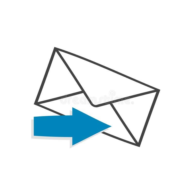 Новое сообщение! Плоский дизайн значка Онлайн сообщения и сеть бесплатная иллюстрация