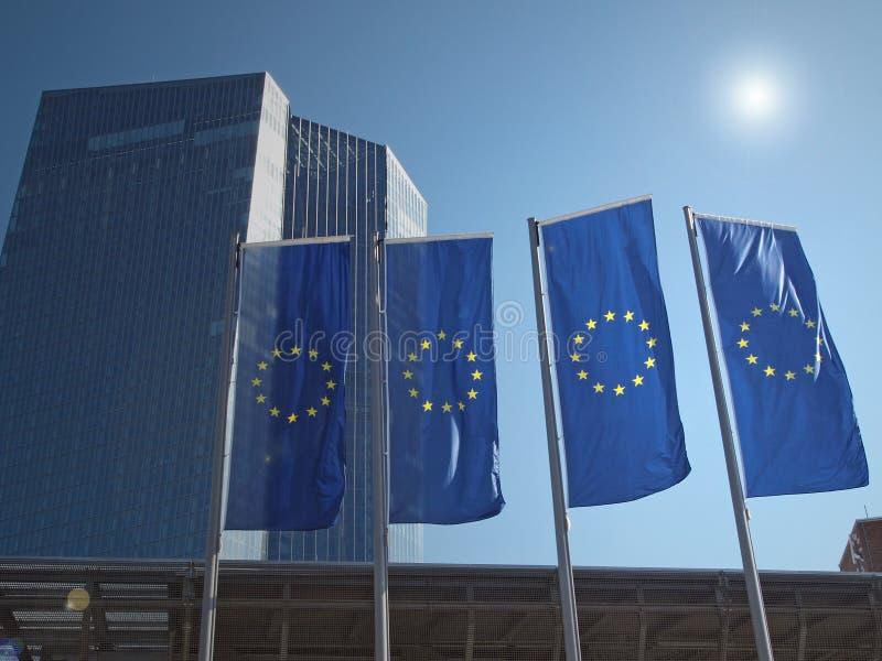 Новое строение места Европейского Центрального Банка стоковое фото rf