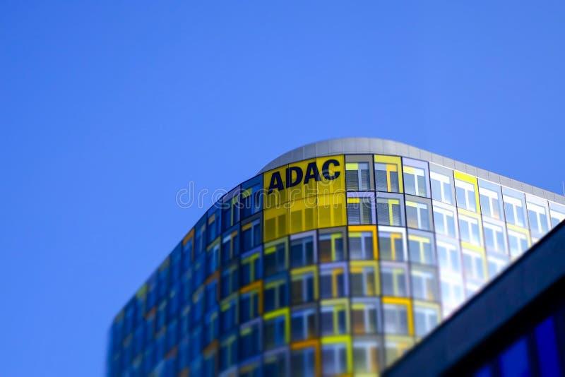 Новое ADAC размещает штаб Мюнхен, Германия стоковое изображение rf