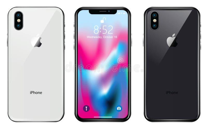 Новое iPhone x иллюстрация вектора