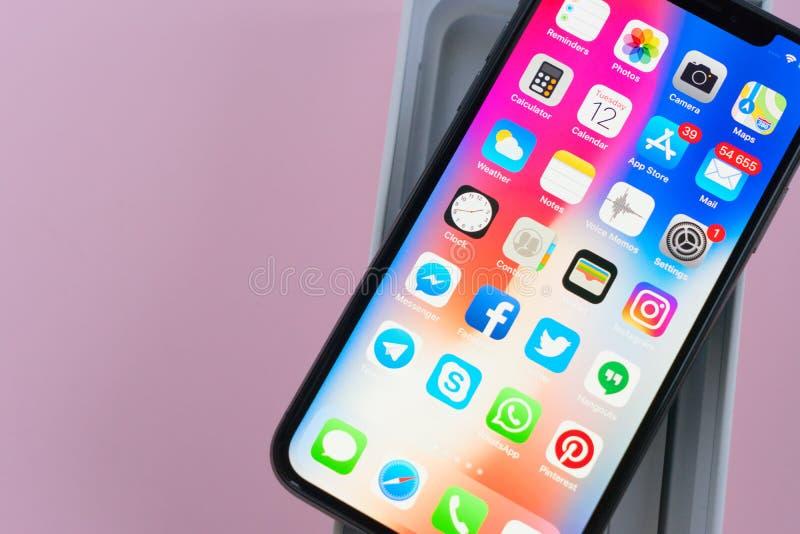 Новое iPhone x стоковые изображения rf