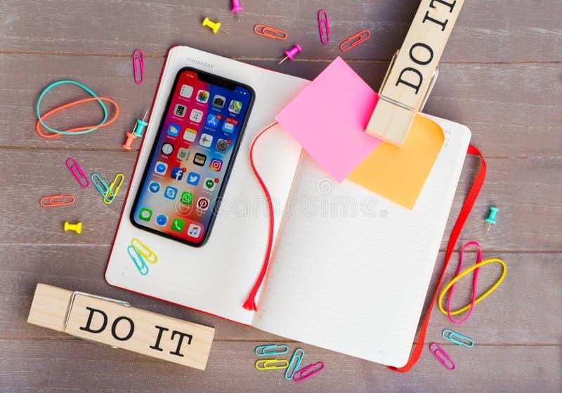 Новое iPhone x стоковые изображения