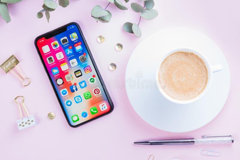 Новое iPhone x стоковое изображение