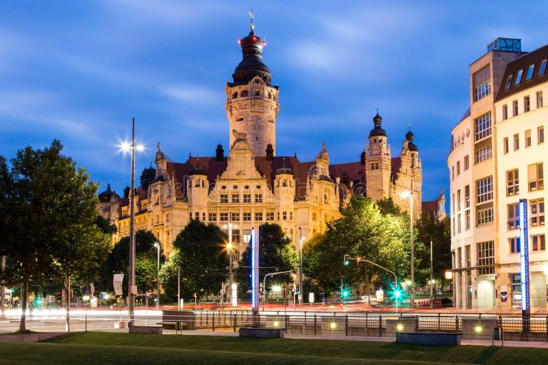Новое Townhall Лейпциг стоковые фотографии rf