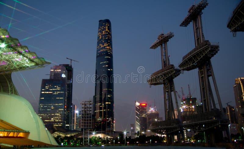 новое zhujiang городка стоковые фотографии rf