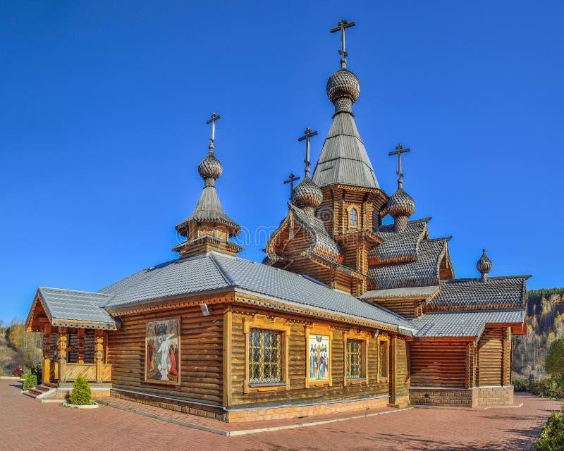Новокузнецк, Россия - 9-ое октября 2018: Христианский висок святого мученика Джона воин стоковое изображение