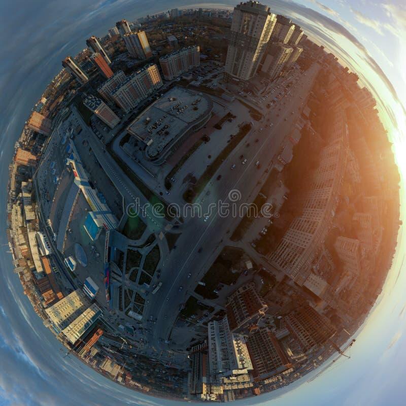 Новосибирск, Россия - 05 20 2018: Сферически панорама стоковое фото rf