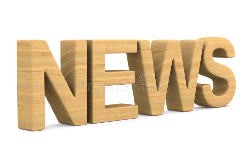 Новости на белой предпосылке Изолированная иллюстрация 3d иллюстрация вектора