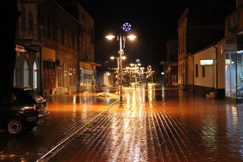 Новые Годы Eve ночи ночи праздника волшебные стоковая фотография rf