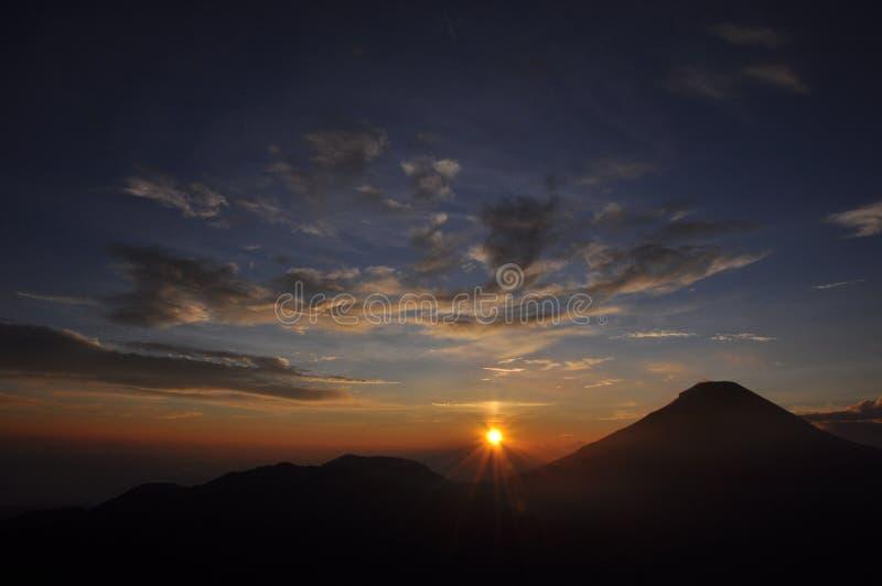 Новые Годы 2016 восхода солнца стоковые изображения rf