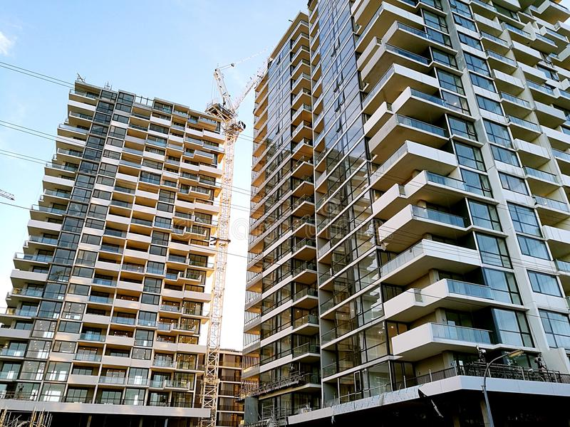 Новые квартиры в Сиднее Австралии стоковое фото
