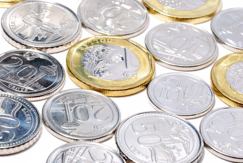 Новые монетки Сингапура стоковые фото