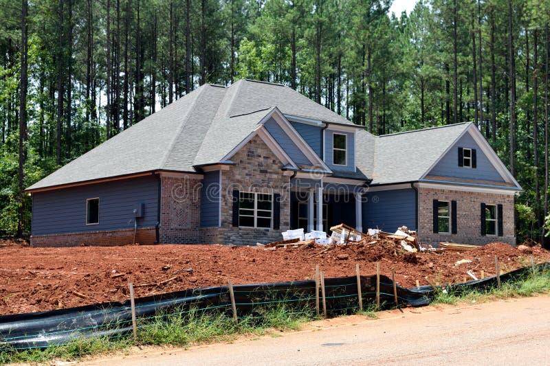 Новые дома построенные в Georgia США стоковая фотография