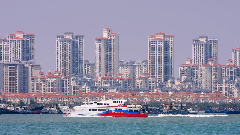 Новые построенные жилые башни в прибрежной области Xiamen, Китая стоковые фото