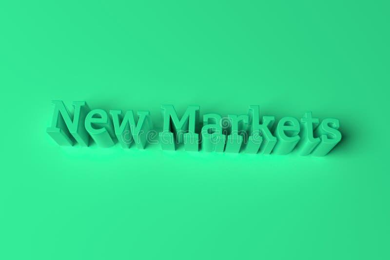 Новые рынки, декоративные, оформление иллюстраций, ключевые слова CGI, для предпосылки текстуры дизайна перевод 3d иллюстрация штока
