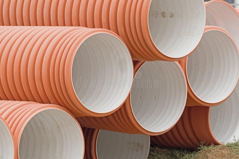 Новые трубы для канализации стоковая фотография rf